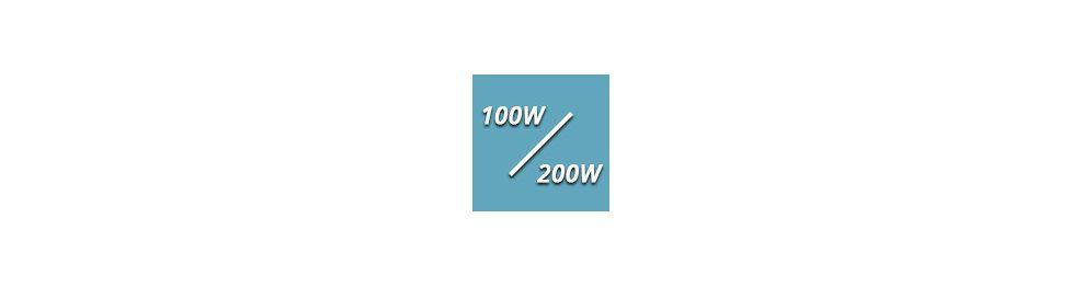 De 100 à 200 Watts