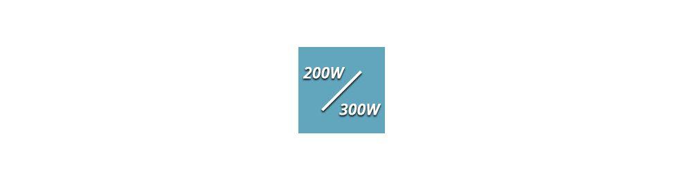 De 200 à 300 Watts