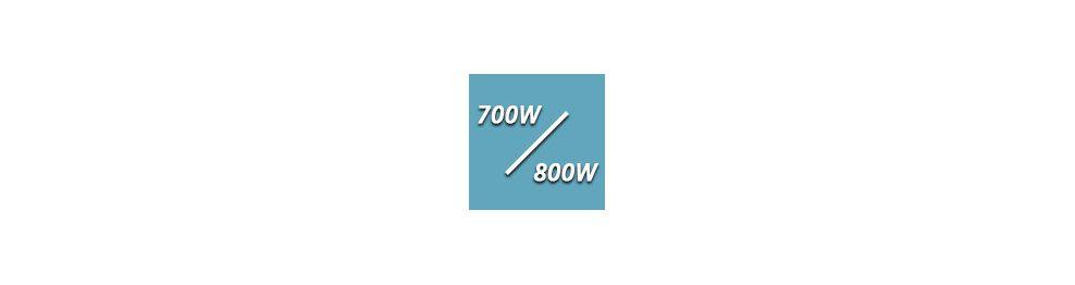 De 700 à 800 Watts